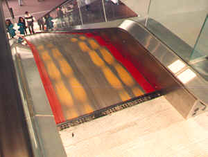 escalator safety devices tread painting and skirt guard